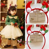 accord christmas decoration - Christmas decorations gifts to children play according to the type of stereo horn antler hairband head hoop buckle baby adorable hair