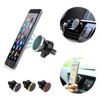 Wholesale Universal Rotating Magnetic Car Air Vent Mount Cell Mobile Phone Holder Stand for iPhone S Plus Samsung S6 GPS Sony Tablet