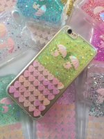apple umbrella - Glitter Soft TPU Case Love Silicone gel Umbrella Bling Clear Heart Colorful For Iphone S Plus INCH skin Cover Cell phone Luxury