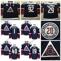 alternate hockey jerseys - 2016 Colorado Avalanche Alternate Navy Gabriel Landeskog Nathan MacKinnon Varlamov Duchene Tanguay Hockey Jersey