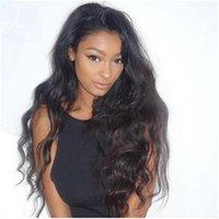 Wholesale Unprocessed Brazilian Glueless Full Lace Wigs Natural Wave Full Lace Human Hair Wigs Density Free Part Wavy Lace Wig