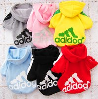 Wholesale 6pcs By DHL UPS Cute Pet Clothes Dog Apparel Winter Hooded Dog Clothes Winter Jumpsuit Colors Christmas Dog Sweaters