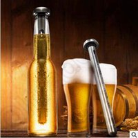 beer liquors - Stainless Steel Wine Liquor Chiller Cooling Ice Stick Rod In Bottle Pourer Beer Chiller Stick Chill Alcohol Ice Wine Cold CCA4985