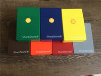 Wholesale Brand luxury Full Pack Pieces Colorful SharpStone Cigar Cigarette Box Holder Tobacco Storage Case Gift