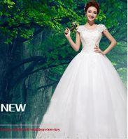 Wholesale Wedding Women s Double V neck Sleeveless Lace Wedding Dressand retro style custom made Leisure fashion modern design individual character