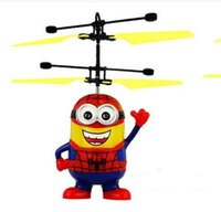 Wholesale Strange New Remote Control Sensing Vehicle Suspension Plane Stalls Selling Yellow People Shine Electric Toys And Gifts For Children