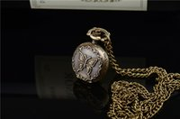 Wholesale mix style Antique Pocket watch with chain Necklace Classic Pocket Watches