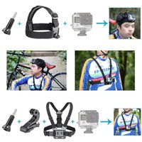 Wholesale US Stock in Headband Chest Strap Climbing Skiing Riding Sports Accessory Kit For GoPro Hero Camera