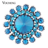aria blue - VOCHENG NOOSA mm Colors Ginger Snap Aria Rhinestone Jewelry Vn