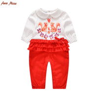 baby red squirrel - High Quality Infant Girl Clothing One Piece Baby Long Sleeve Squirrel Baby Rompers Jumpsuit Kids Clothes Baby Onesie M M
