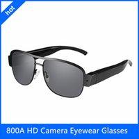 Precio de Cámara espía venta caliente-Cámaras ocultas venta caliente del cuerpo cámara de alta resolución de las gafas de sol 800A HD de la cámara del espía Gafas de sol de las gafas de sol de la cámara mini DVR