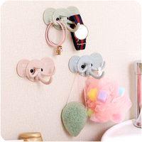Wholesale New Cartoon Elephant Wall Adhesive Hook Kitchen Bathroom Storage Supplies Home Decor