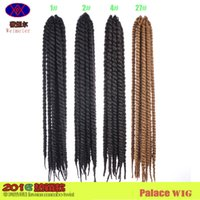 Wholesale Europe and The United States Sell Like Hot Cakes and MAMBO TWIST BRAID Black African Big Braid for Black Women and Man