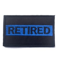army retired - 50 RETIRED Patch Morale Tactical Patches Hook Loop Embroidery Badge Military Army Armband Badge CM