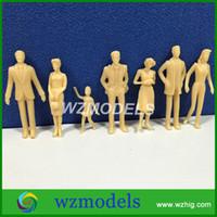 architectural model figures - 50pcs Architectural Model Figure Skin Color Plastic Miniature Model People