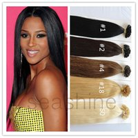 beautiful nail extensions - Beautiful Stright Wave Hair Extension Prebonded Keratin Nail UTip Hair Keratin U tip Hair g g per pc Hot SALE