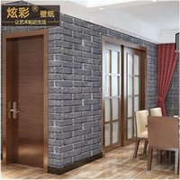 antique renovation - 3D stereo antique brick brick pattern wallpaper restaurant covered with red brick corridor storefront renovation project wallpaper