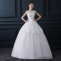 beautiful eyes pictures - 2016 Wedding Bride Shoulder And Shoulder Together Wedding Lace Beautiful Tight Confortable White Dress Lace Thin Eye contracting B
