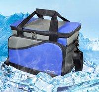 Wholesale foodgrade Large Thicken Folding Fresh Cooler Bag Lunch Bag Fruit Seafood Steak Insulation Thermal Bag Ice Packs