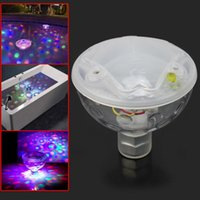 bath change - Color Changing Glowing LED Underwater Light Lamb Show Swimming Pool Disco Party Spa Bath Garden Pond Waterproof Lights