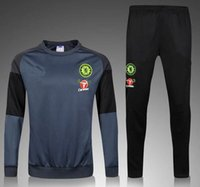 Wholesale A Top Thai quality Chelsea gray soccer tracksuit Football Shirt Training Suit soccer Jacket