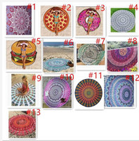 Wholesale 13 Types Cotton Round Beach Towel cm Bath Towel Tassel Decor Geometric Printed Bath Towel Summer Style