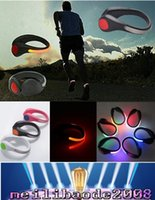 bicycle clip shoes - LED Luminous Shoe Clip Light Night Safety Warning LED Bright Flash Light For Running Sports Cycling Bicycle Multipurpose MYY