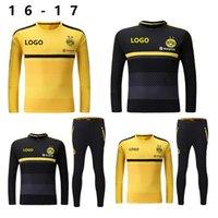 Wholesale 16 new borussias Dortmunds coat soccer uniform jacket training suit pants suit Borussia Dortmund home