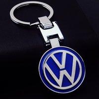 Wholesale High Quality Metal Car Keychain Titanium Key Chain Car Emblem Keyring Car Logo Key Rings Gift badges for Volkswagon vw Prices