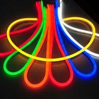 Wholesale AC110V LED Neon Flex Soft Neon Light m Led M Flexible Neon Strip power connector Free DHL