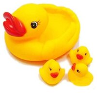 Cheap Cute Baby Girl Boy Bath Bathing Classic Toys Rubber Race Squeaky Ducks Set Yellow Sale
