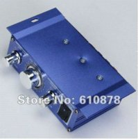 Wholesale Blue Mini Hi Fi Stereo Audio Amplifier w Super Bass Out for Car Motorcycle Mp3 Mp4 Computer Speaker etc