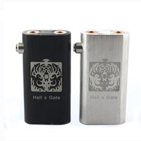 Hells Gate 18650 18650 Hells Gate Mod E Cigarette Machanical Mods Hells Gate Mod Vapor Box Suit for 2 pcs 18650 Battery 2 Yep RDA Atomizer Black Silver