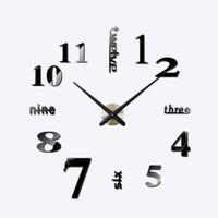 Wholesale Brand Hippih fashion D big size wall clock mirror sticker DIY wall clocks home decoration digital clock room wall clock
