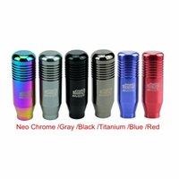 Wholesale MUGEN Color Neo Chrome Aluminum Automatic Straight Gear Shift Knob Shank For Most Honda Acura