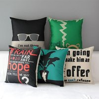 adult posters - 45cm European Poster Loft Cotton Linen Fabric Throw Pillow inch Handmade New Home Office Bedroom Decoration Sofa Back Cushion