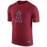 apparel los angeles - New Men MLB Los Angeles Angels Baseball T shirts Fanatics Apparel Platinum Collection Tri Blend Banner Wave Authentic Collection Short sleev