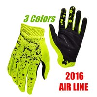 finger bmx bike - 2016 ATV DH MX Fox Gloves Flexair Racing off road Bicycle Cycling Gloves BMX Mountain Bike Non slip Motocross Glove