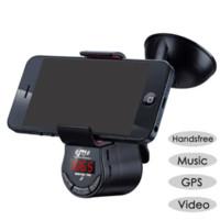 Wholesale Fashion adjustable Car Mount Holder Bracket Handsfree FM Transmitter Speaker for iPhone Samsung dropshipping speaker netbook