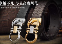 Wholesale High quality belts men fashion brand designers luxury cow genuine leather belt Gold silver letter buckle waistband