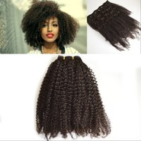 Wholesale African American Afro Kinky Curly Clip in Human Hair Extension B C Vietnamese Human Hair Clip in Weave Extension