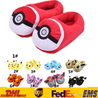 Wholesale Free EMS New Unisex Poke Pikachu Umbreon Home Warm Cosplay Adult Plush Ibrahimovic Novelty Shoes Slippers Style Indoor GD S18