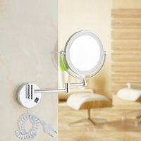 led light magnifying mirror - quot LED light Wall Mounted Round Magnifying Mirror LED Makeup Mirror battery make up lady s private mirrors