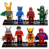 ant toy - Super Heroes building blocks Heroes Assemble Loki Beast Magneto ANT MAN Green Arrow Minifigures kids toys Legofigure bricks SY259