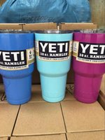 aluminum travel mugs - YETI Rambler Cup Custom Colors oz oz Stainless Steel Tumbler Travel Mug Powder Coated