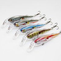 artificial fishing flies - 10pcs Water Surface Artificial Bass Minnow Bait cm g Hard Fishing Lure School Fish Baitball Wobbler