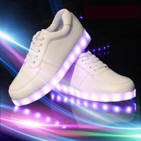 high quality sneakers - 2016 Fashion Fluorescent LED Shoes USB Charging light up Sneakers For Adults Unisex LED Luminous Shoes Men women Casual Shoes High Quality