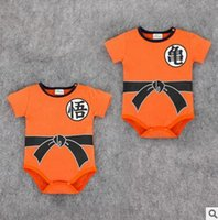 baby dragon ball - Baby Onesies Summer Dragon Ball Baby One Piece Romper Dragon Ball Newborn Boys Girls Baby Rompers Infant Toddler Jumpsuit Romper