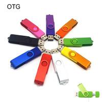 Wholesale Android OTG USB Flash Drive U Sticks Real GB GB GB GB Colorful Swivel USB Flash Drives