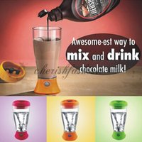 automatic kettle - DHL Fedex Free Fashion Whey Protein Powder Shaker Blender Cup Automatic Movement Fruit Infuser Bottle ml Candy color Water Bottle M335 B